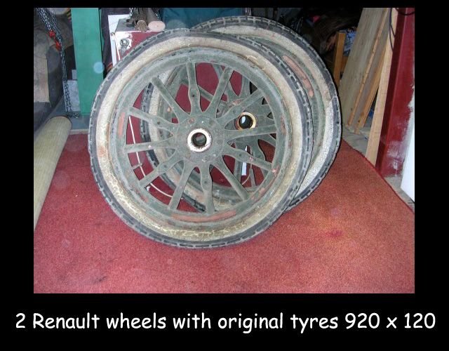 2 Renault wheels with original tyres 920X120